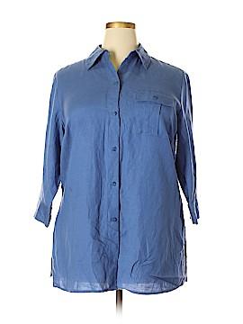 Caslon 3/4 Sleeve Button-Down Shirt Size 1X (Plus)
