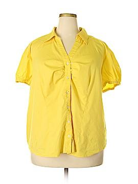 Fashion Bug Short Sleeve Button-Down Shirt Size 3X (Plus)