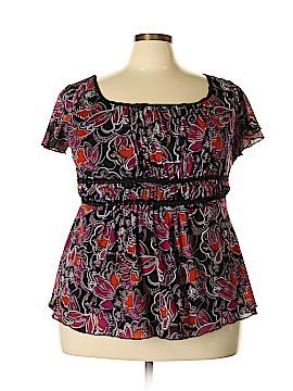 AB Studio Short Sleeve Blouse Size 2X (Plus)