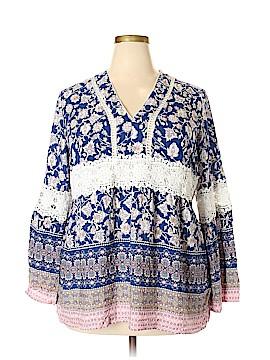 Suzanne Betro Long Sleeve Blouse Size 3X (Plus)