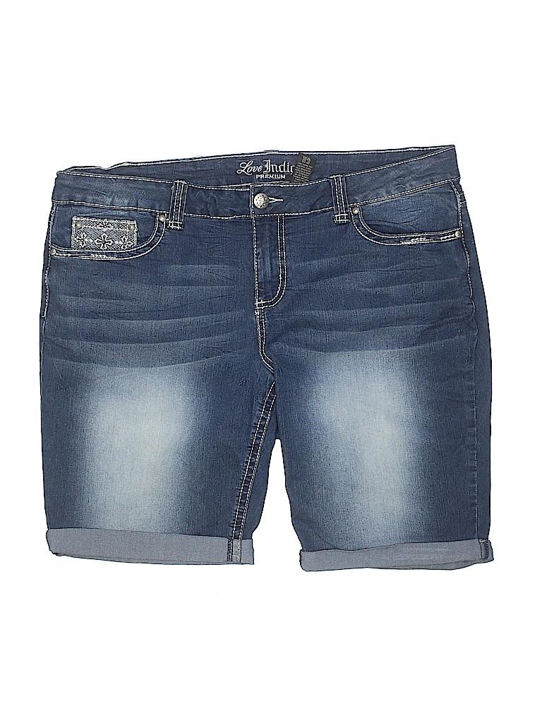 b5af5e42c5 Love Indigo Solid Navy Blue Denim Shorts Size 20 (Plus) - 80% off ...