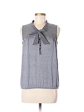 Ann Taylor LOFT Sleeveless Button-Down Shirt Size M