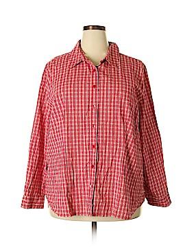 Carolina Colours Long Sleeve Button-Down Shirt Size 26 - 28 (Plus)
