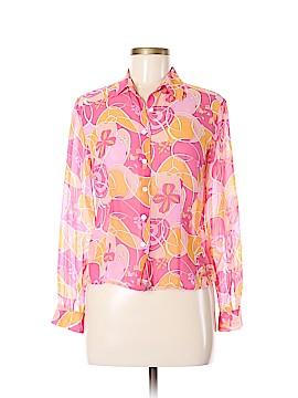 Ann Taylor Long Sleeve Silk Top Size 6