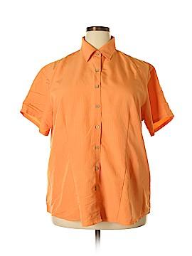 Harriton Short Sleeve Blouse Size 2X (Plus)