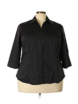 Venezia 3/4 Sleeve Button-Down Shirt Size 18 - 20 Plus (Plus)