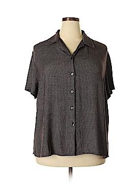 Villager Sport by Liz Claiborne Short Sleeve Blouse Size 2X (Plus)