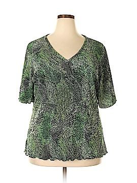Russell Kemp New York Short Sleeve Blouse Size 2X (Plus)