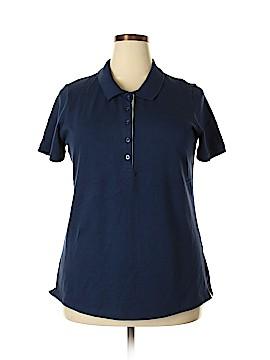 Laura Scott Short Sleeve Polo Size 1X (Plus)