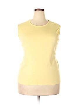 Appleseeds Sleeveless T-Shirt Size 2X (Plus)