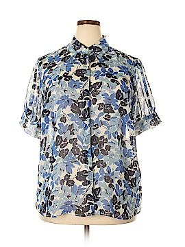 Chaps Short Sleeve Blouse Size 2X (Plus)