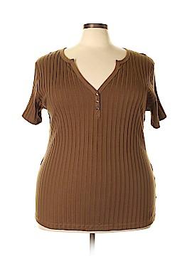 Northcrest Short Sleeve Henley Size 4X (Plus)