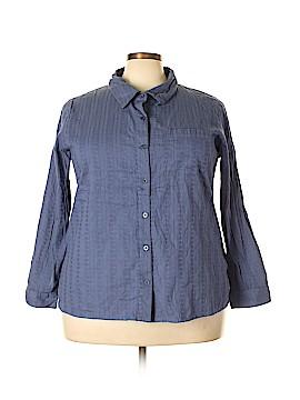 Denim Co Long Sleeve Button-Down Shirt Size 2X (Plus)