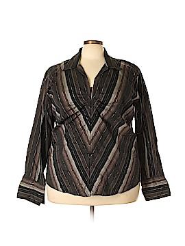 Quizz Woman Long Sleeve Button-Down Shirt Size 22 (Plus)