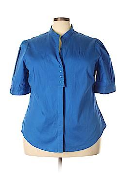 Lane Bryant Outlet Short Sleeve Button-Down Shirt Size 22 - 24 Plus (Plus)