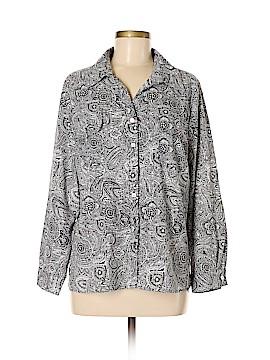 Notations Long Sleeve Button-Down Shirt Size XL (Petite)