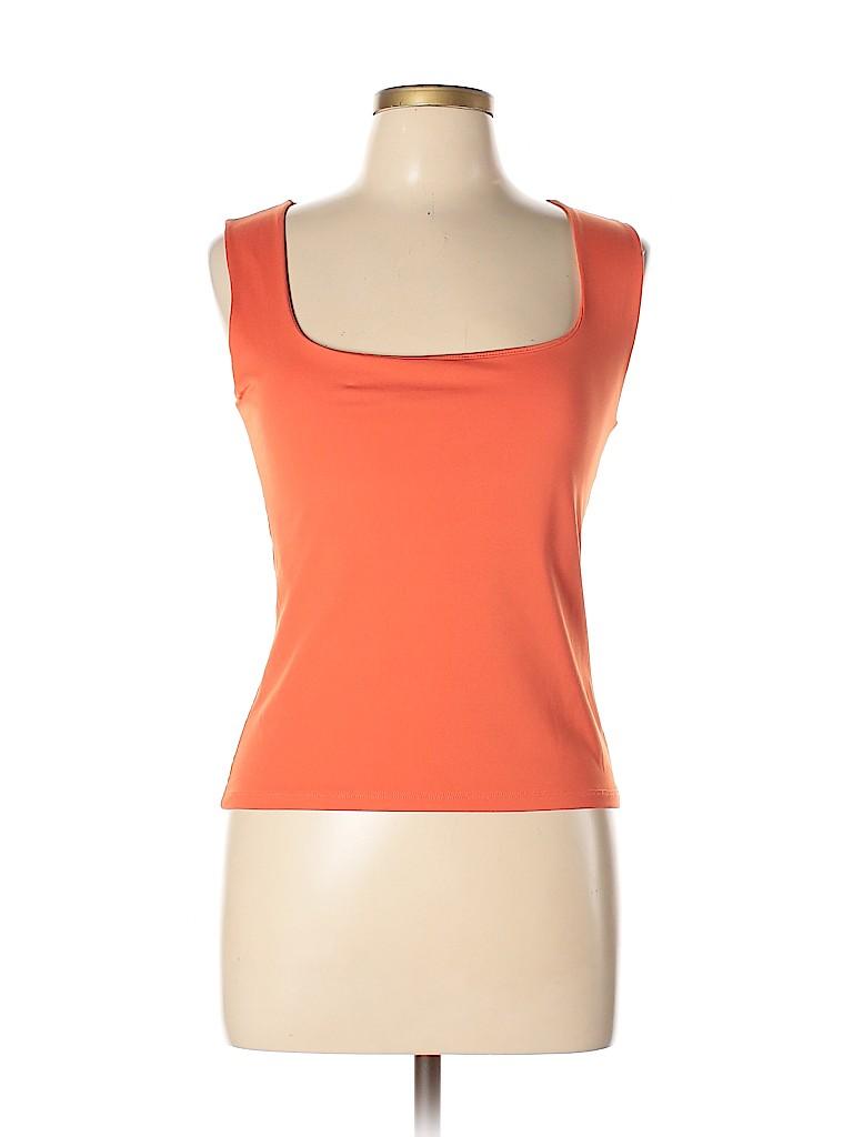 12d6da365b295f Zara Basic Solid Orange Sleeveless Top Size L - 70% off