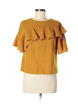 Whit Short Sleeve Blouse Size M
