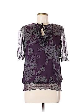 Sandra Ingrish Short Sleeve Silk Top Size M