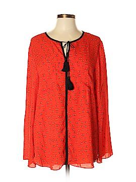 Libby Edelman Long Sleeve Blouse Size XL