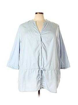 Fashion Bug 3/4 Sleeve Button-Down Shirt Size 4X (Plus)