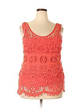 Ultra Pink Sleeveless Blouse Size 2X (Plus)
