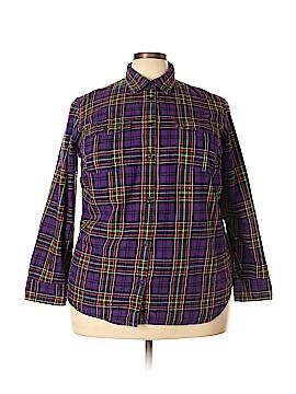 Lauren Jeans Co. Long Sleeve Button-Down Shirt Size 2X (Plus)