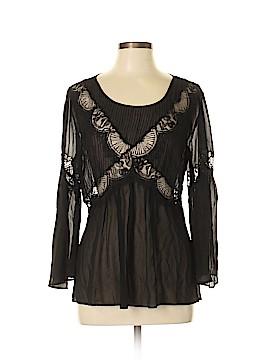 Dil Long Sleeve Silk Top Size 10