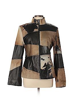 Sued Mod New York Leather Jacket Size XL