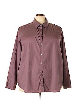 Merona 3/4 Sleeve Button-Down Shirt Size 4X (Plus)