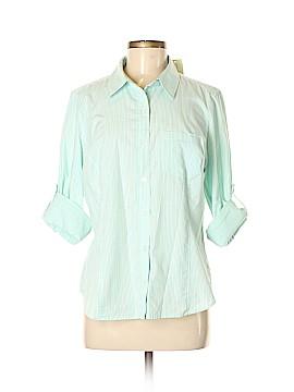 Jones New York Sport Long Sleeve Button-Down Shirt Size M