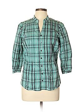 St. John's Bay 3/4 Sleeve Button-Down Shirt Size L (Petite)