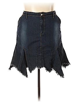 Zoey & Beth Denim Skirt Size 2X (Plus)