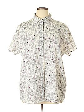 Croft & Barrow Short Sleeve Button-Down Shirt Size 1X (Plus)
