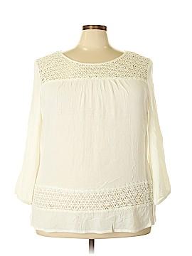 Solitaire Long Sleeve Blouse Size 2X (Plus)