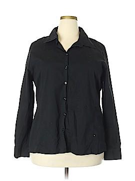 Bobbie Brooks Long Sleeve Button-Down Shirt Size 2X (Plus)