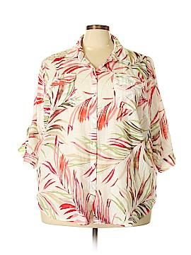 Croft & Barrow 3/4 Sleeve Button-Down Shirt Size 3X (Plus)