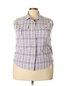 Cabela's Sleeveless Button-Down Shirt Size 2X (Plus)