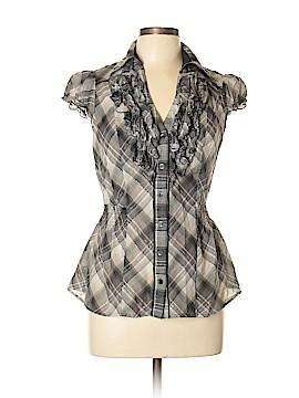 INC International Concepts Short Sleeve Button-Down Shirt Size 12