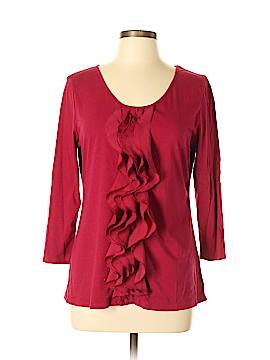 Garnet Hill Long Sleeve Top Size L