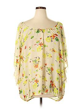City Chic Short Sleeve Blouse Size 24 Plus (XL) (Plus)