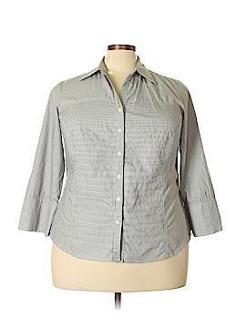 Signature by Larry Levine Long Sleeve Button-Down Shirt Size 2X (Plus)