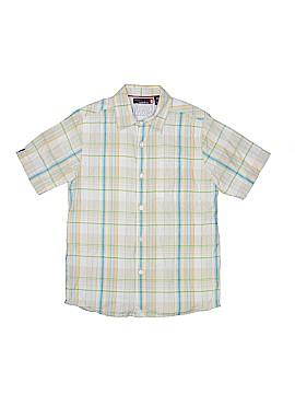 Quiksilver Short Sleeve Button-Down Shirt Size 12 - 14