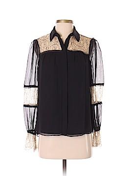 Ramy Brook Long Sleeve Silk Top Size XXS