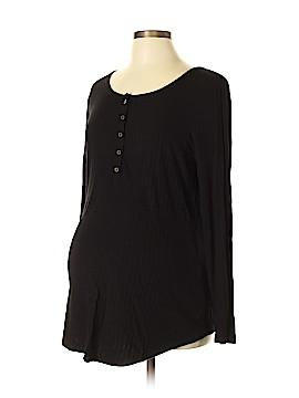 Inspire Maternity Long Sleeve Henley Size L (Maternity)
