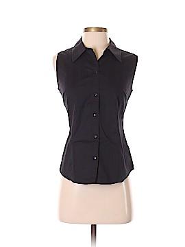 St. John's Bay Sleeveless Button-Down Shirt Size S (Petite)