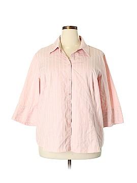 Lane Bryant Outlet Long Sleeve Button-Down Shirt Size 28 - 26 Plus (Plus)