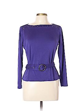 Carlisle Long Sleeve Silk Top Size L
