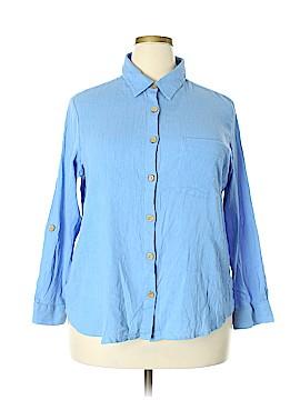 Express Long Sleeve Button-Down Shirt Size 2X (Plus)