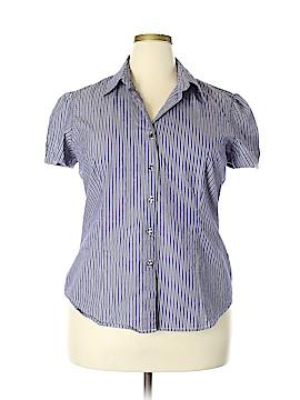 George Short Sleeve Button-Down Shirt Size XXL - 2X